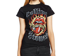 Rolling Stones Flaming Tatto Tongue Men's Fit T-Shirt