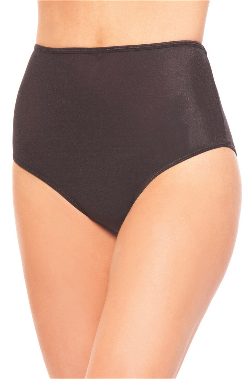 Full Brief Panty. Glossy high waisted