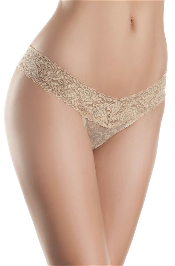 V Cut Lace Panties
