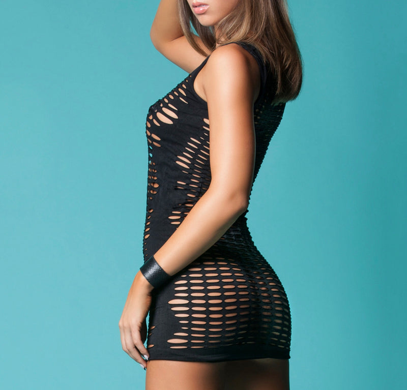 SHREDDED SEAMLESS MINI DRESS