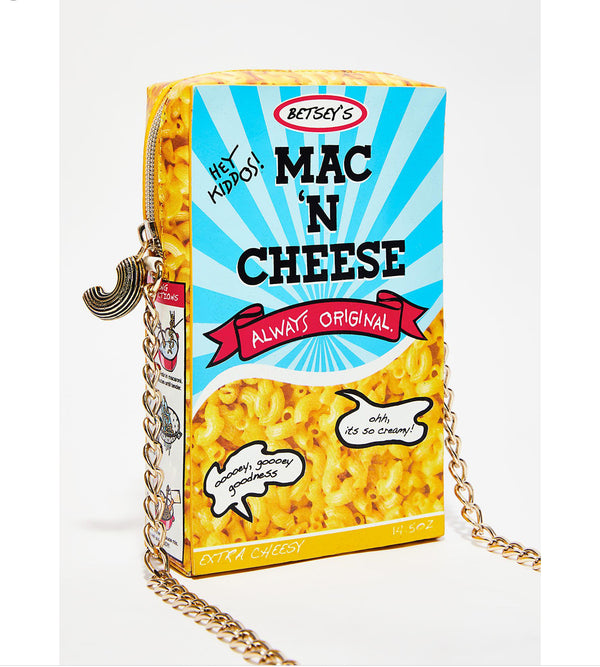 BETSEY JOHNSON SMACK N CHEESE CROSSBODY BAG