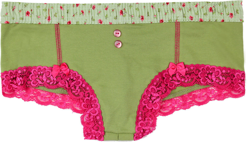Boyshort with Roses Waistband