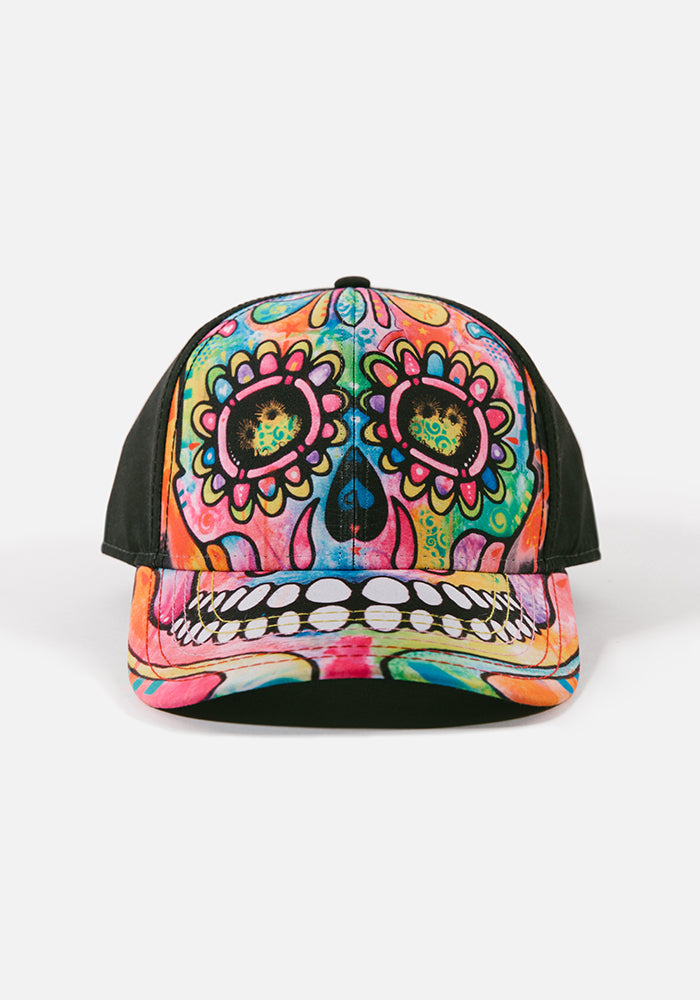 Skeleton Face Trucker Hat