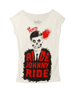 The Misfits Ride Johnny Ride Juniors Cut Tee