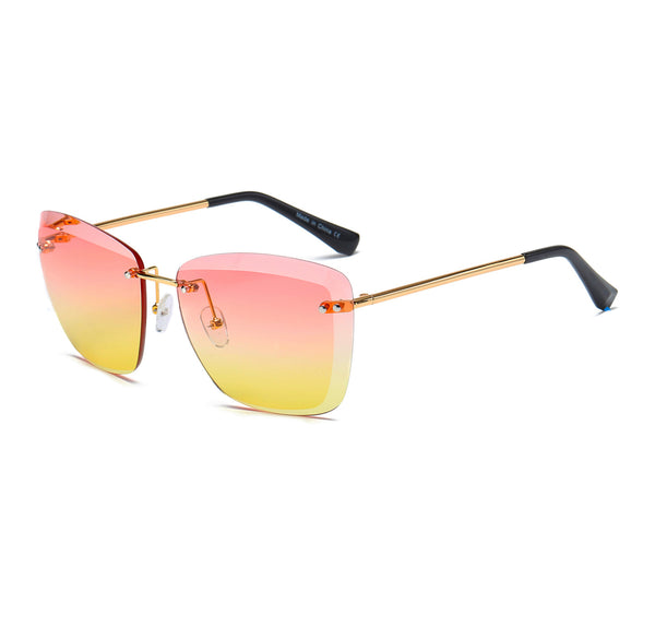 Women's Rimless Square Sunglasses
