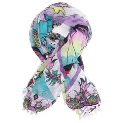 Mermaid Print Pom Pom Parade Scarf