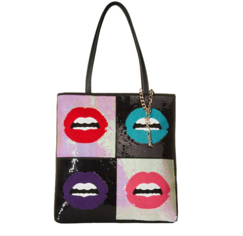 Betsey Johnson Sequin Lip Tote