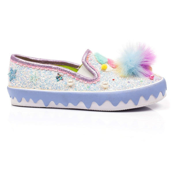 IRREGULAR CHOICE POM POM SHOES