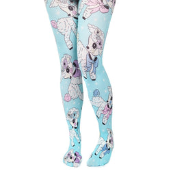 Lamb Print Tights