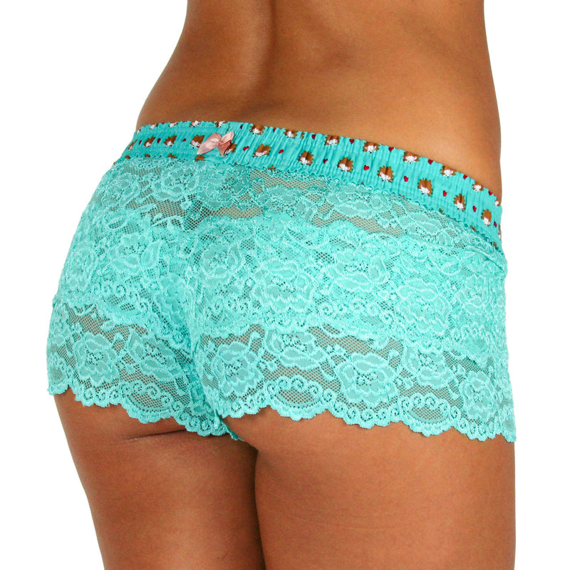 Turquoise Lace Boxers Hedgehog Band