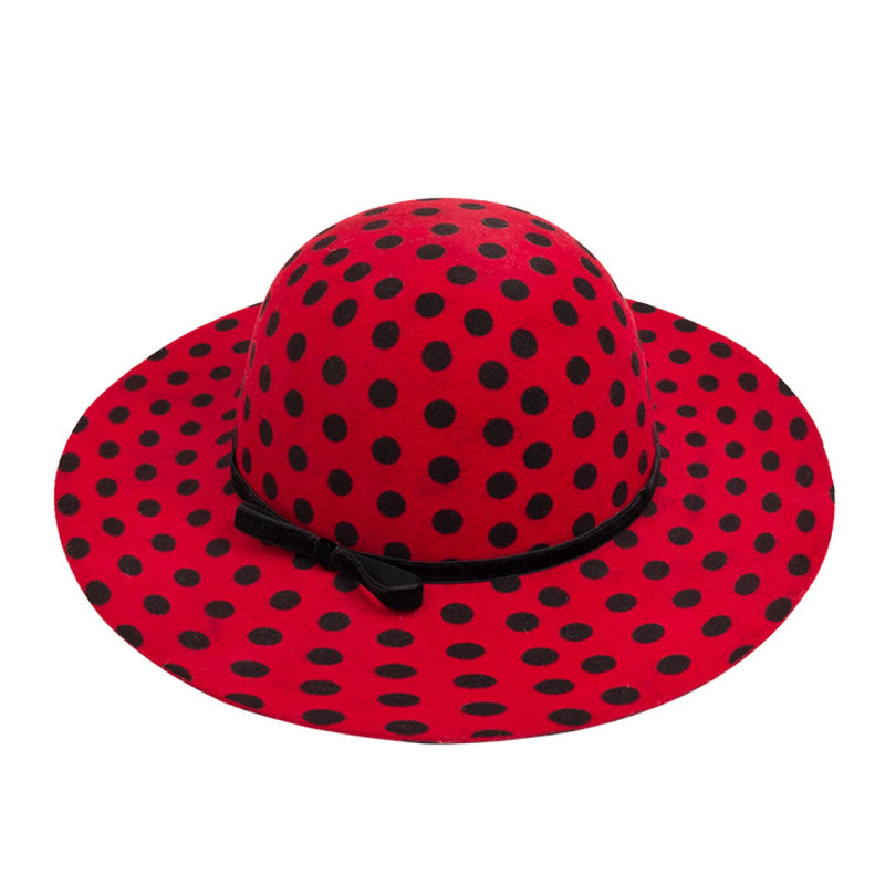 Red Polka Dot Women's Hat