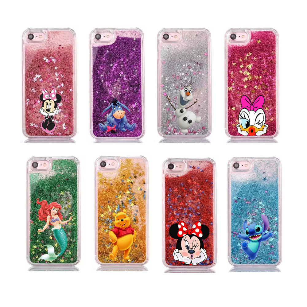 Cartoon Water Liquid Case Covers for iPhones