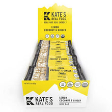 Load image into Gallery viewer, Kate's Real Food Bars 12 Pack | Bivy Bar Lemon Coconut & Ginger