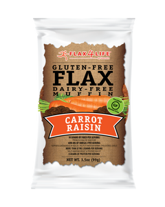 Flax 4 Life Single Serve Carrot Raisin Muffin- 2 Case (24 Count) - APmunch