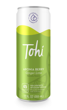 Load image into Gallery viewer, Tohi Aronia Berry Beverage Ginger Lime (12 Pack) - APmunch