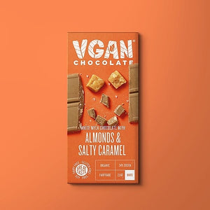 Vgan Chocolates 5 Pack | White Chocolate With Almonds & Salty Caramel - APmunch