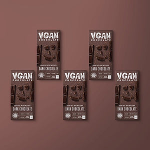 Vgan Chocolates 5 Pack | Dark Chocolate | 85% Cocoa | Sugar Free - APmunch