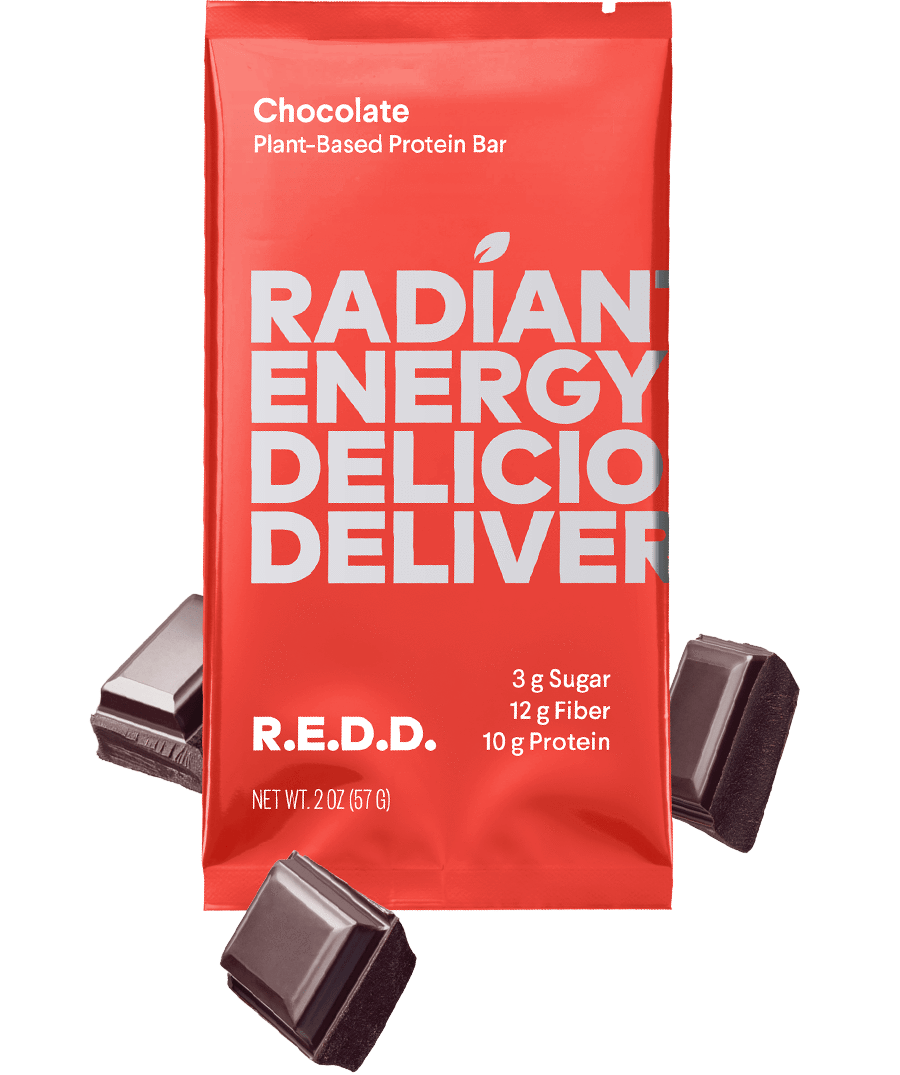 R.E.D.D. Chocolate Plant-Based Protein Bar (12 Bars Per Box) - APmunch