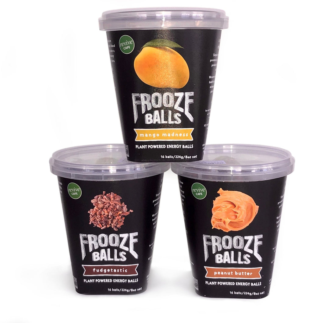 NEW Froozeballs Resealable Pottle Variety Pack- Mango Madness, Peanut Butter, Fudgetastic - APmunch