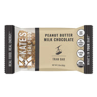 Kate's Real Food Granola Bars 12 Pack | Tram Bar Peanut Butter Milk Chocolate