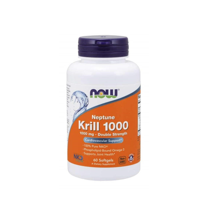 NOW Foods Neptune Krill, Double Strength 1000 mg 60 Softgels