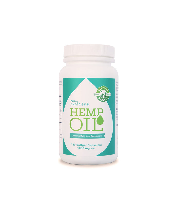 Manitoba Hemp Seed Oil 120 Softgels
