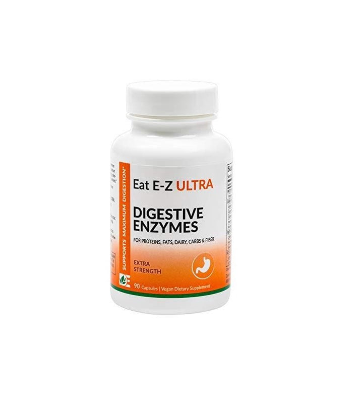 Dynamic Enzymes Eat E-Z Ultra Extra-Strength Digestive Support 90 Capsules