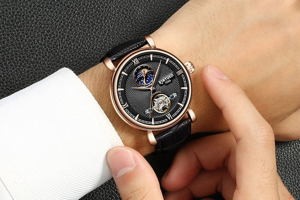 KINYUED - Tourbillon Waterproof Watch