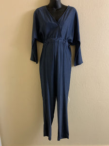 Long Sleeved Surplice Jumpsuit