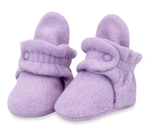 Fleece Booties No Grippers - Purple