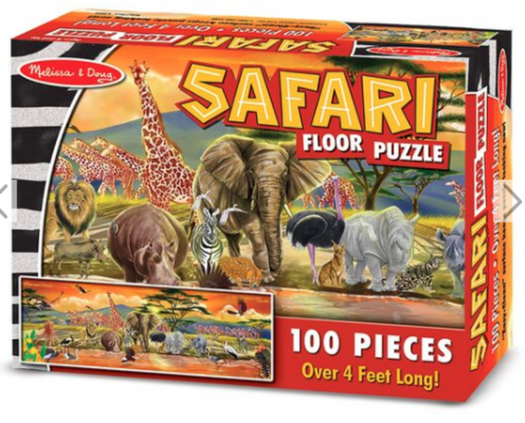 Floor Puzzle 100 piece Safari