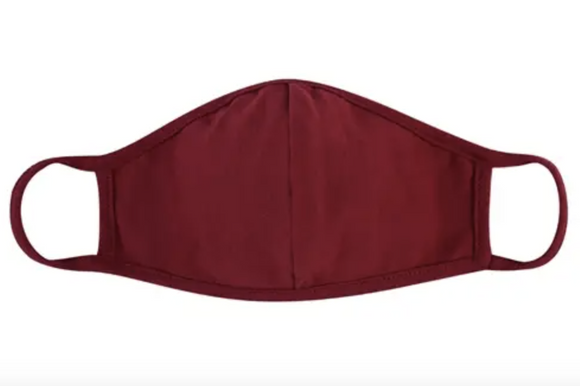 Burgundy Mask - Adult