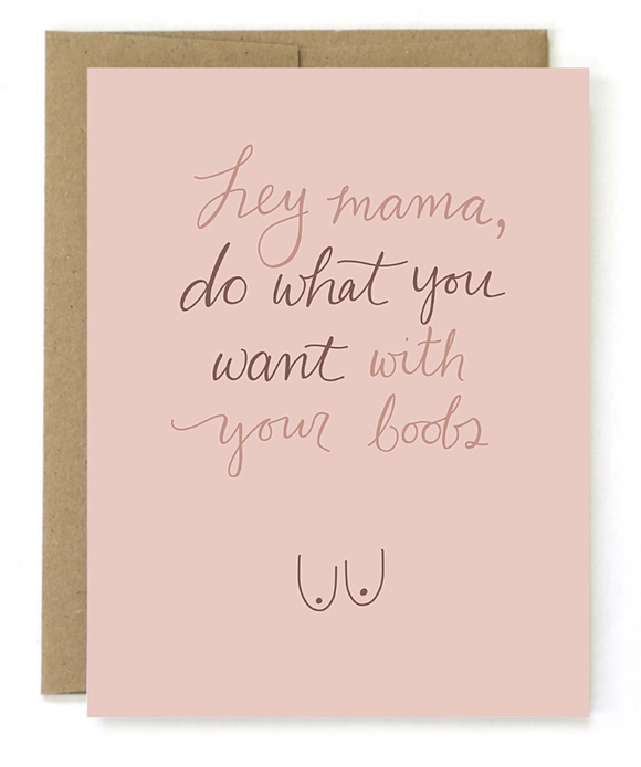 New Mom Card - What You Want