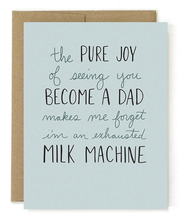 Father's Day Card - Milk Machine