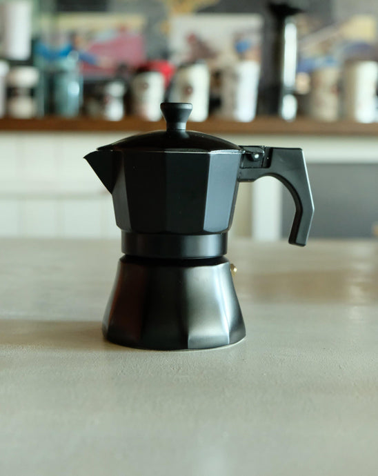 Moka Pot 3 Cup - Mat Siyah - Coffee Gutta - The Route Of Coffee