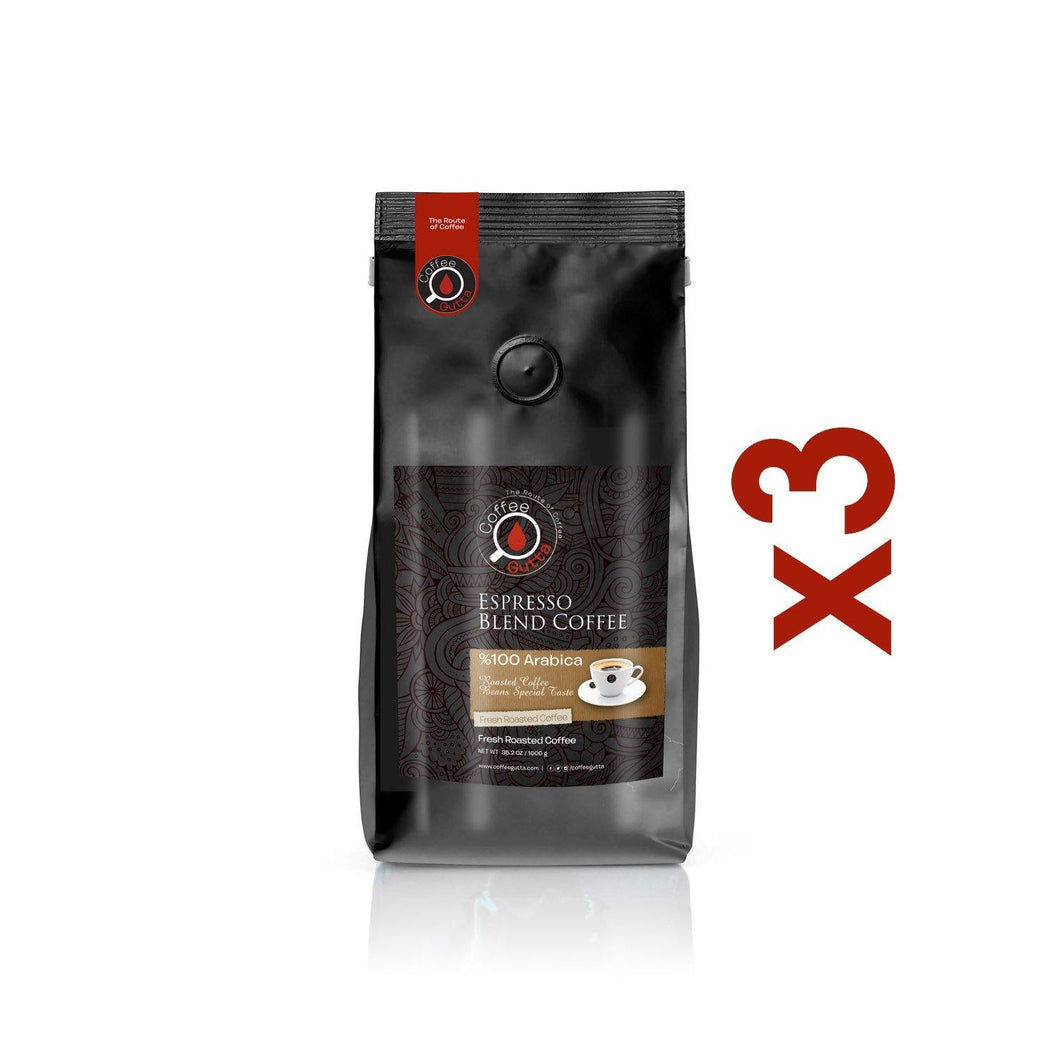 3 x 1KG Espresso Blend - Coffee Gutta - The Route Of Coffee