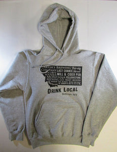 Billings Brewery Hoodie, Grey, Small