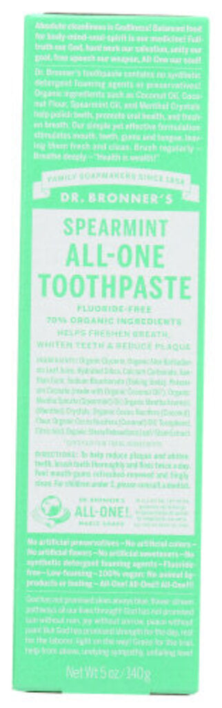 Dr Bronners Spearmint All One Toothpaste