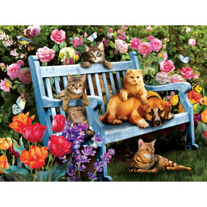 Hanging Out in the Garden 300 pc Jigsaw Puzzle