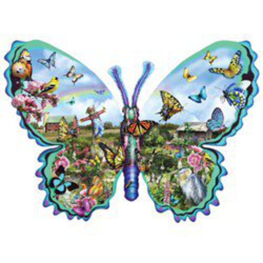 Butterfly Farm Shaped Puzzle, 1000 piece