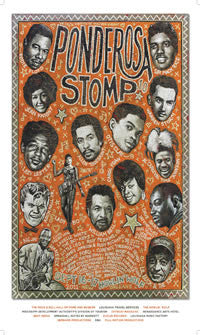 2011 Ponderosa Stomp Poster by Jon Langford - Signed