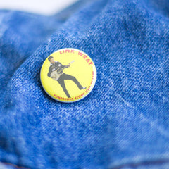 Link Wray Hall of Fame Ponderosa Stomp Artist Button
