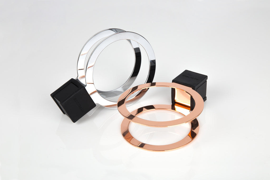 CUP HOLDER PREMIUM - CHROME AND COPPER