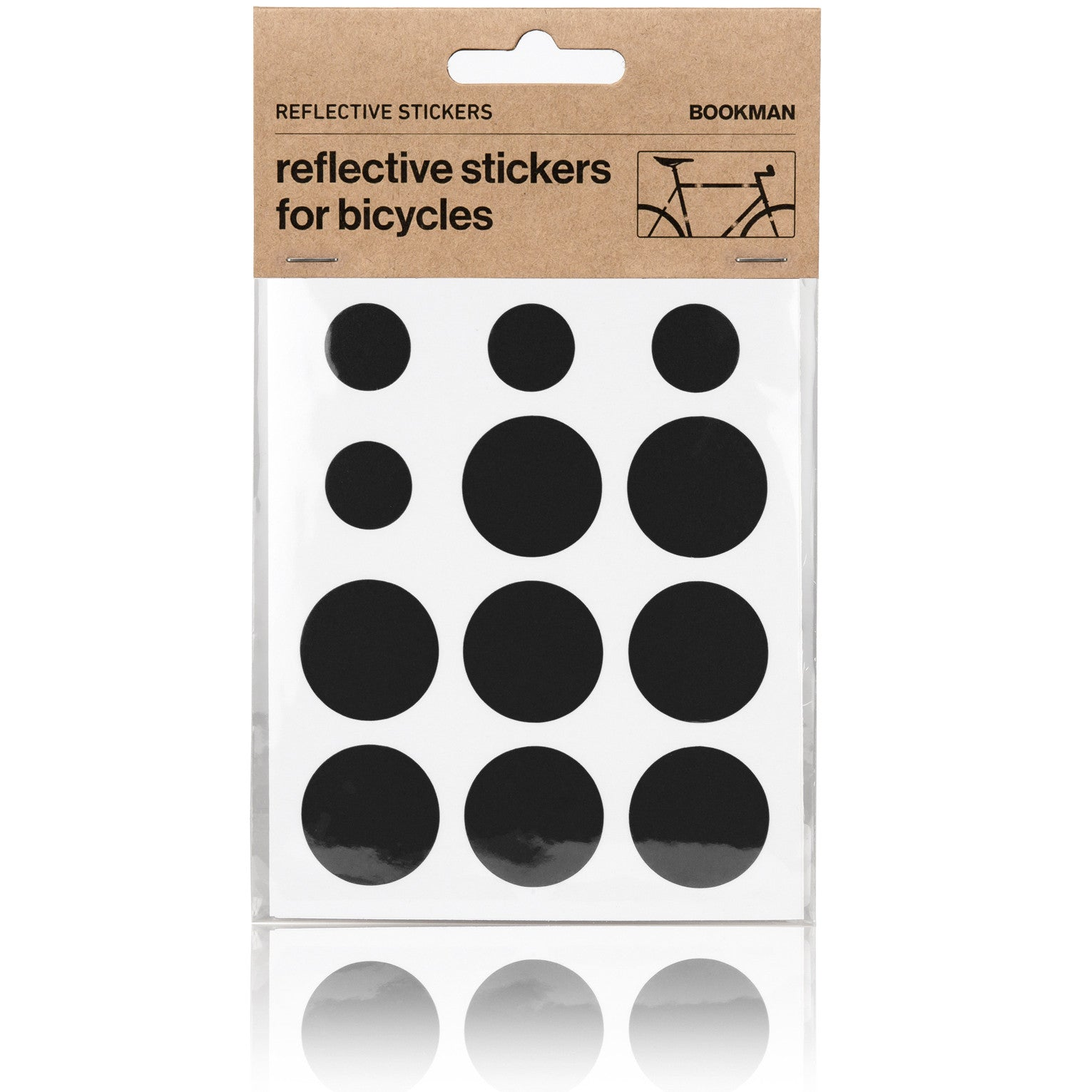 Reflective Dots Stickers for Bikes - Black | BOOKMAN