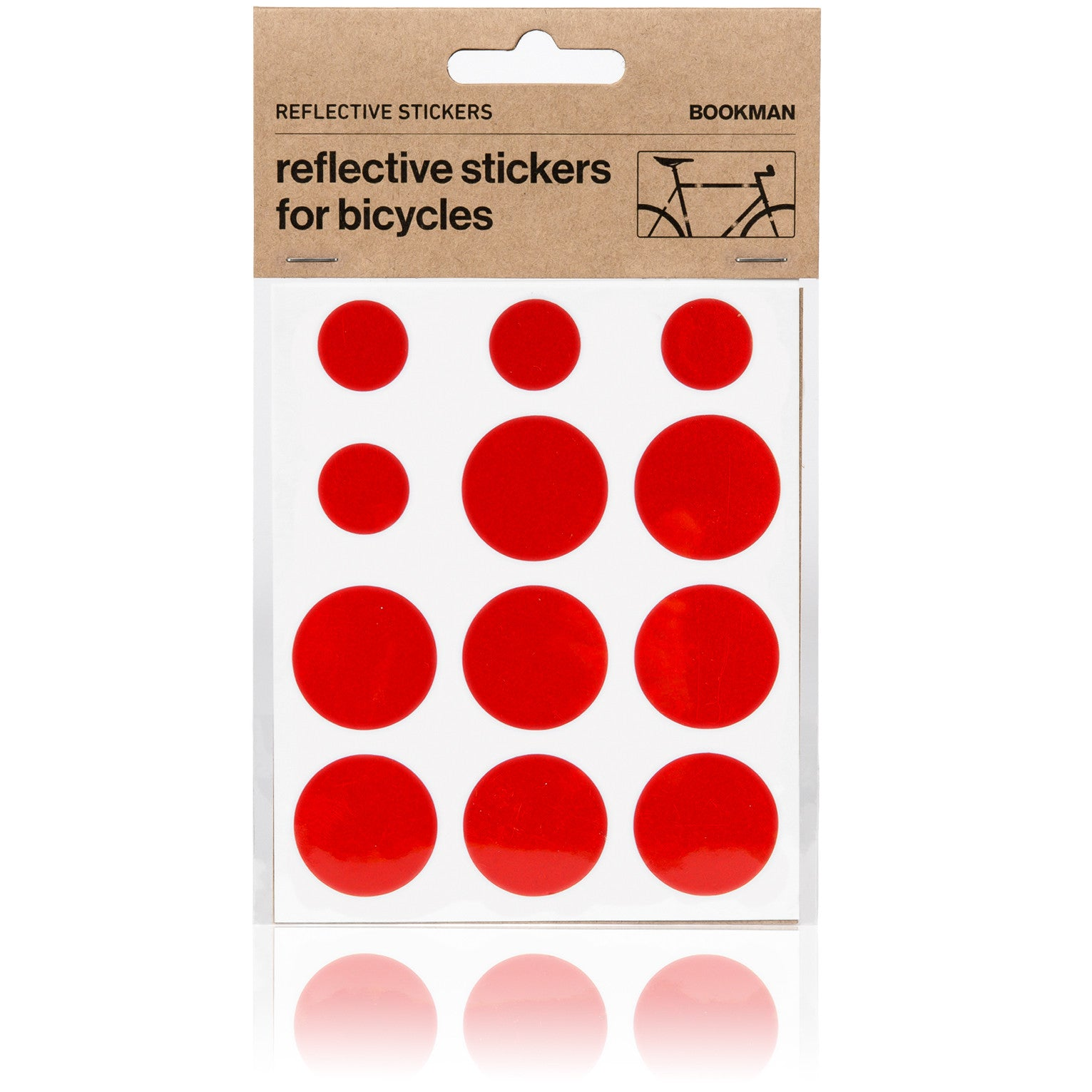 Reflective Dots Stickers for Bikes - Red | BOOKMAN