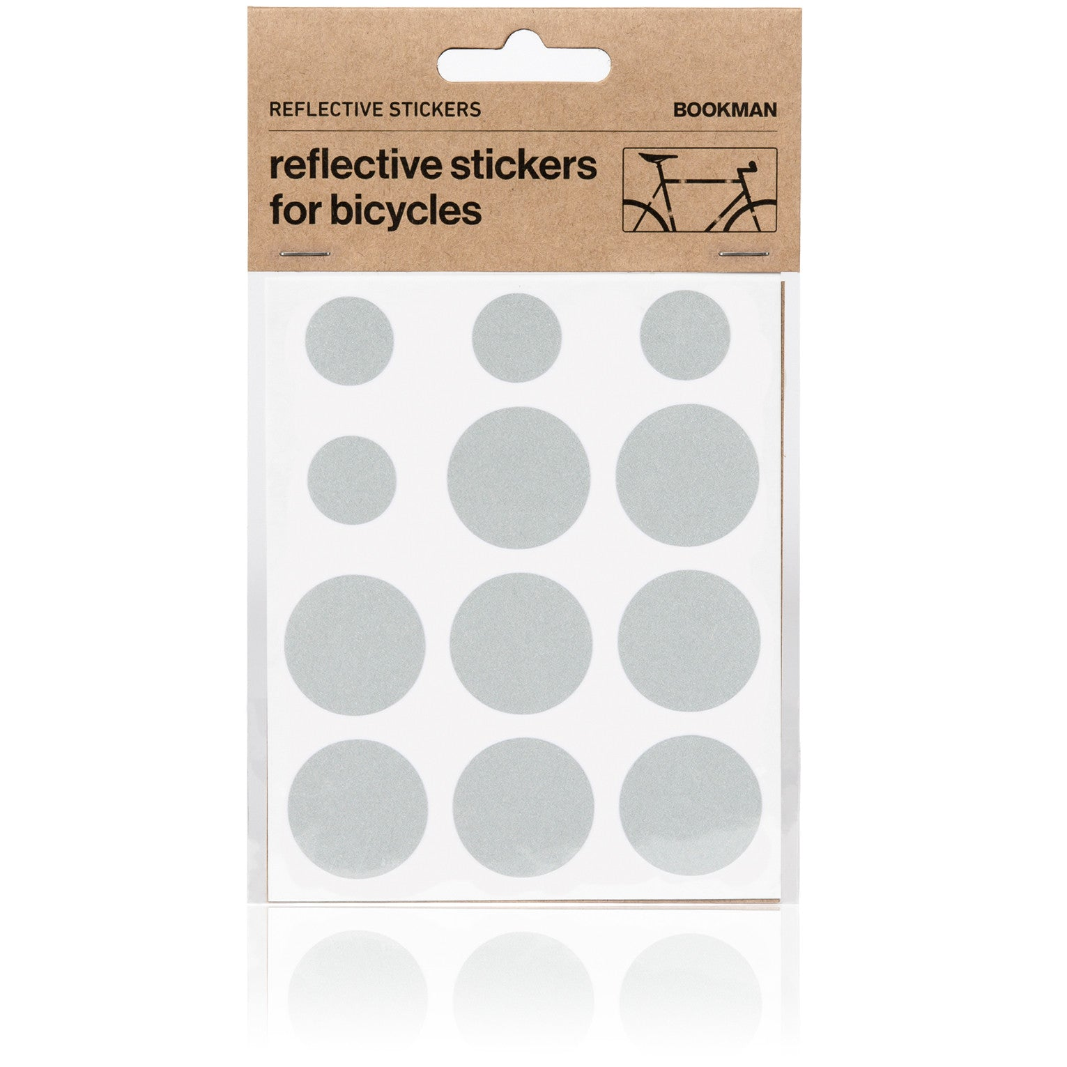 Reflective Dots Stickers for Bikes - White | BOOKMAN