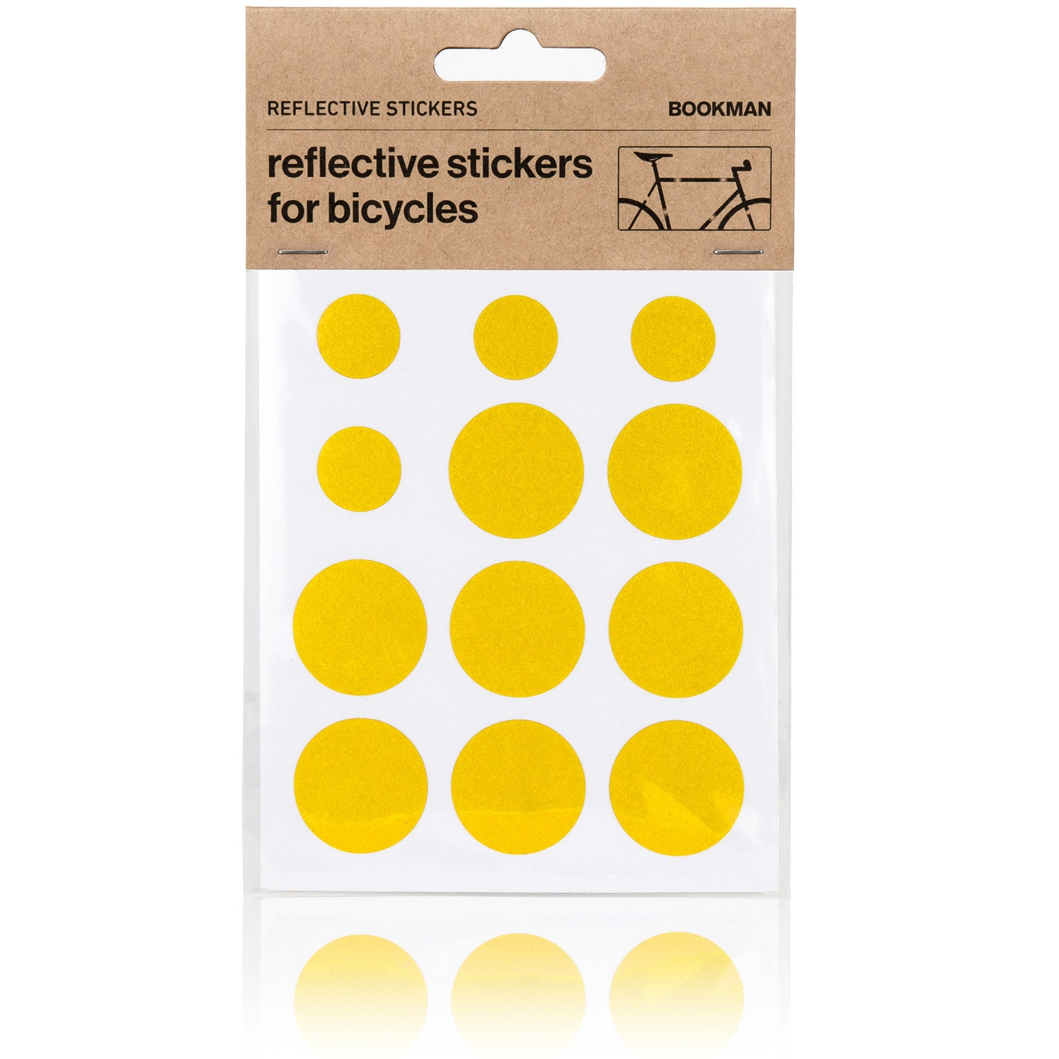 Reflective Dots Stickers for Bikes -Yellow | BOOKMAN