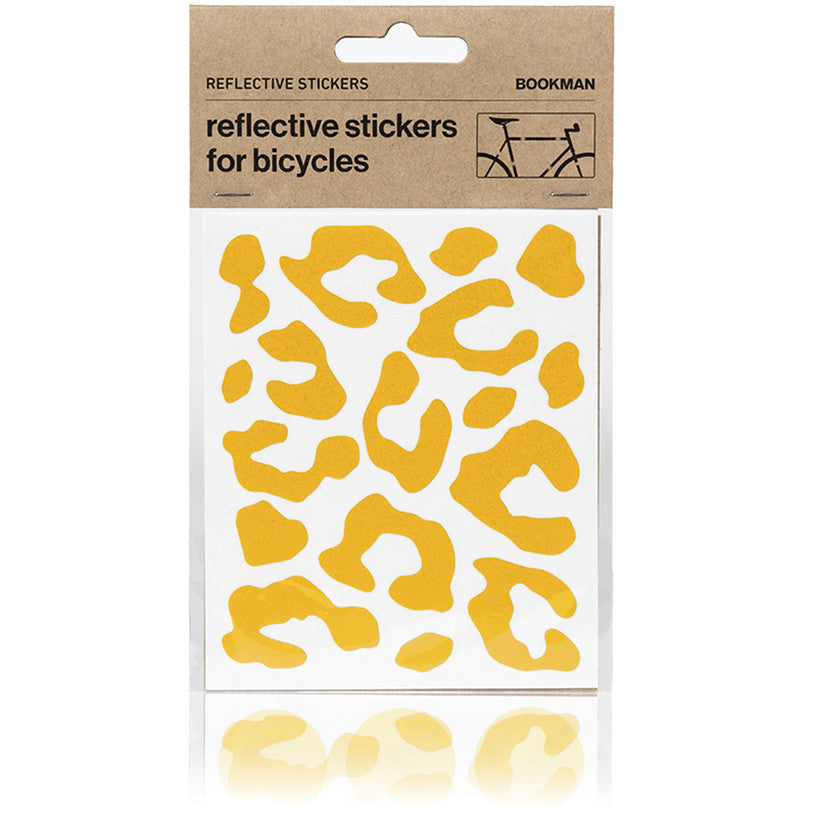 Reflective Stickers for Bikes - Leopard Print - Yellow | BOOKMAN