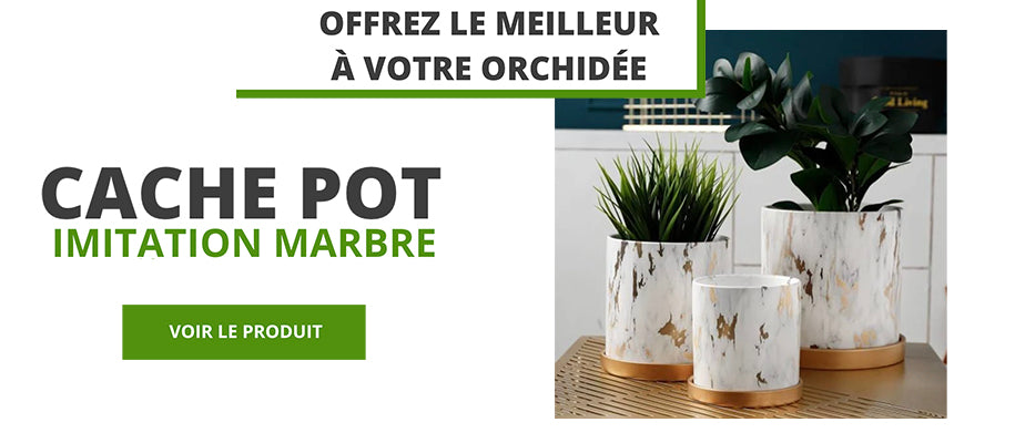 cache pot immitation marbre