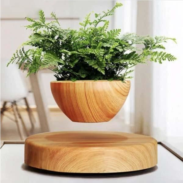 levitation magnetique pot de fleur
